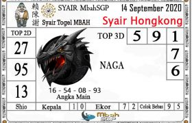 Syair HK Mbah Sukro 14 September 2020