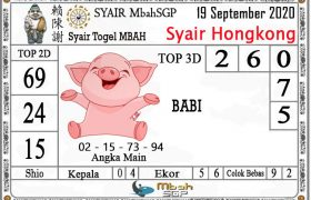 Syair HK Mbah Sukro 19 September 2020