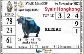 Syair HK Mbah Sukro 24 November 2020