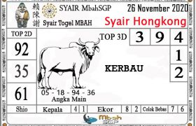 Syair HK Mbah Sukro 26 November 2020