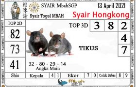Syair HK Mbah Sukro 13 April 2021