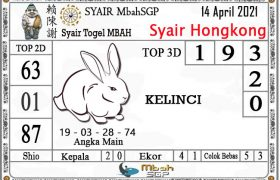 Syair HK Mbah Sukro 14 April 2021
