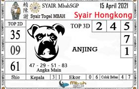 Syair HK Mbah Sukro 15 April 2021