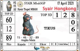 Syair HK Mbah Sukro 17 April 2021