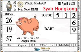 Syair HK Mbah Sukro 18 April 2021