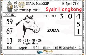 Syair HK Mbah Sukro 19 April 2021
