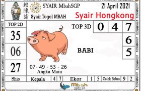 Syair HK Mbah Sukro 21 April 2021